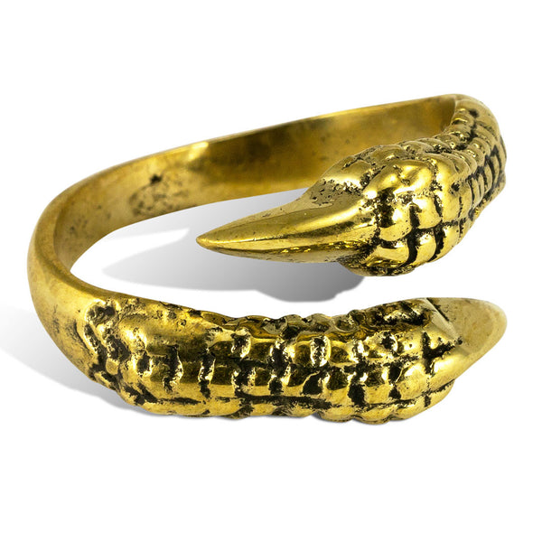 <span>RBR-016<span>: </span></span>Ravens Claw Ring - Brass