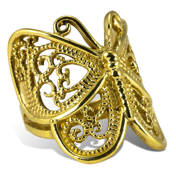 <span>RBR-022<span>: </span></span>Mariposa Ring - Brass
