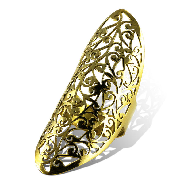 <span>RBR-010<span>: </span></span>Sacred Vine Ring - Brass
