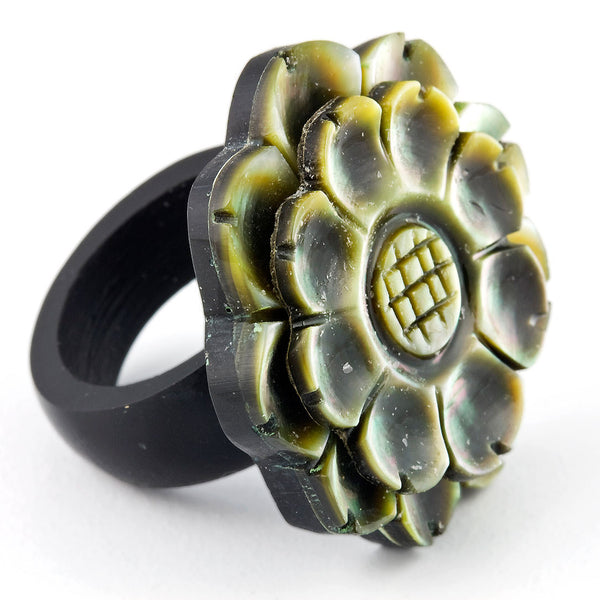 Flower Shell Ring