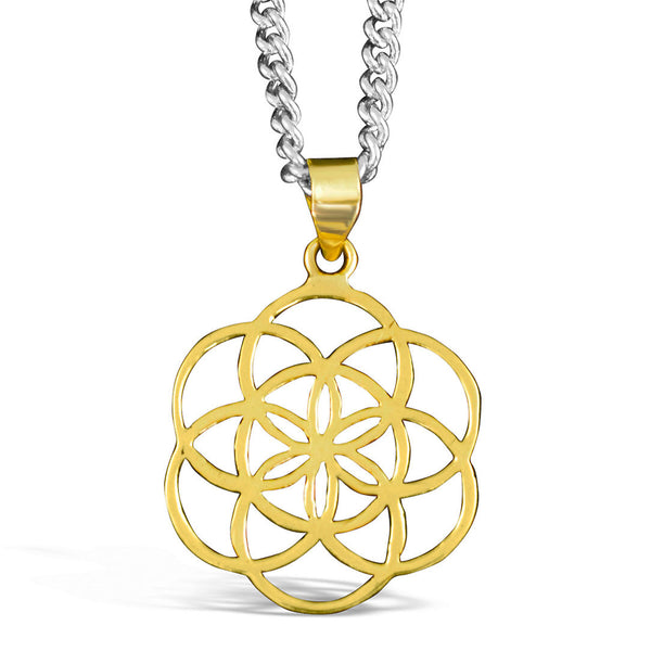 Seed of Life - Brass Pendant