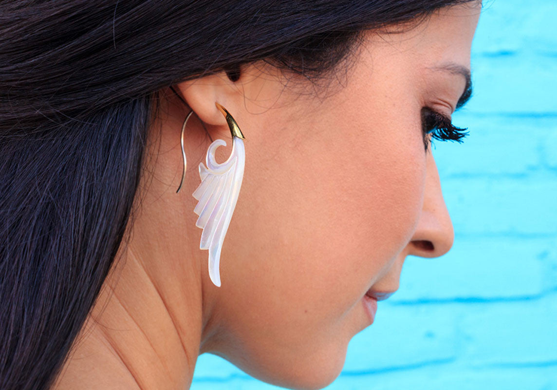 Silver Shell earrings