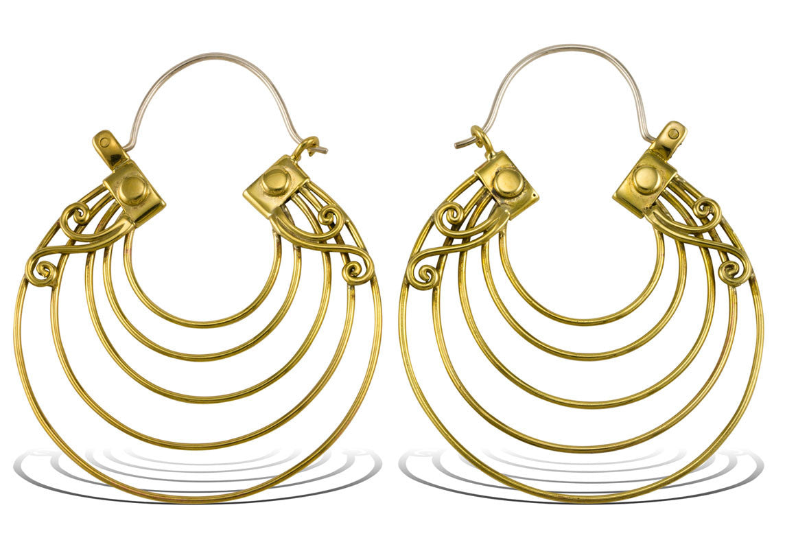 Brass Tribal Earrings