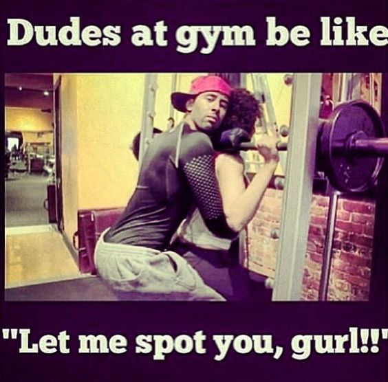 Is it acceptable to try and flirt at the gym???
