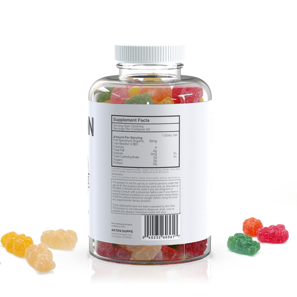 Axton CBD Gummies 600mg - What-Supplement
