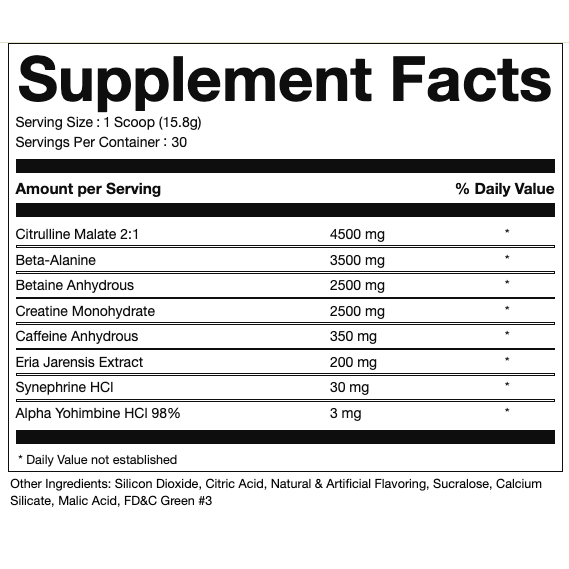 Pure Cut Supplements Cocaine Pre-Workout - What-Supplement