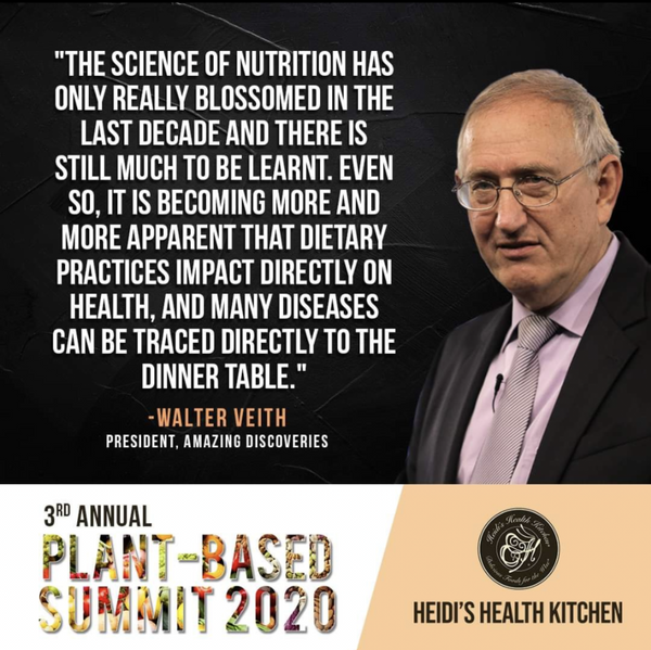 WATCH THE 3RD ANNUAL PLANT-BASED SUMMIT ONLINE,  Register For Your 90-Day Personal Viewing Now!