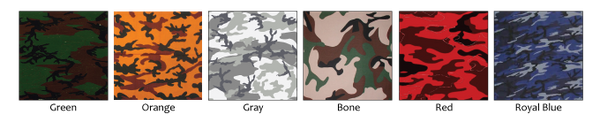 Printed Camo Leather