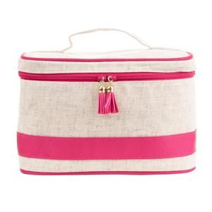Linen Tassel Train Case