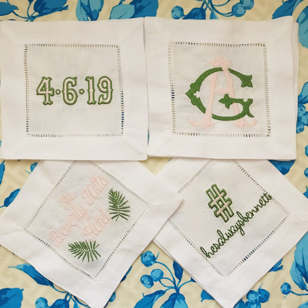"Wedding Deets (or any ""deets"") Cocktail Napkins"