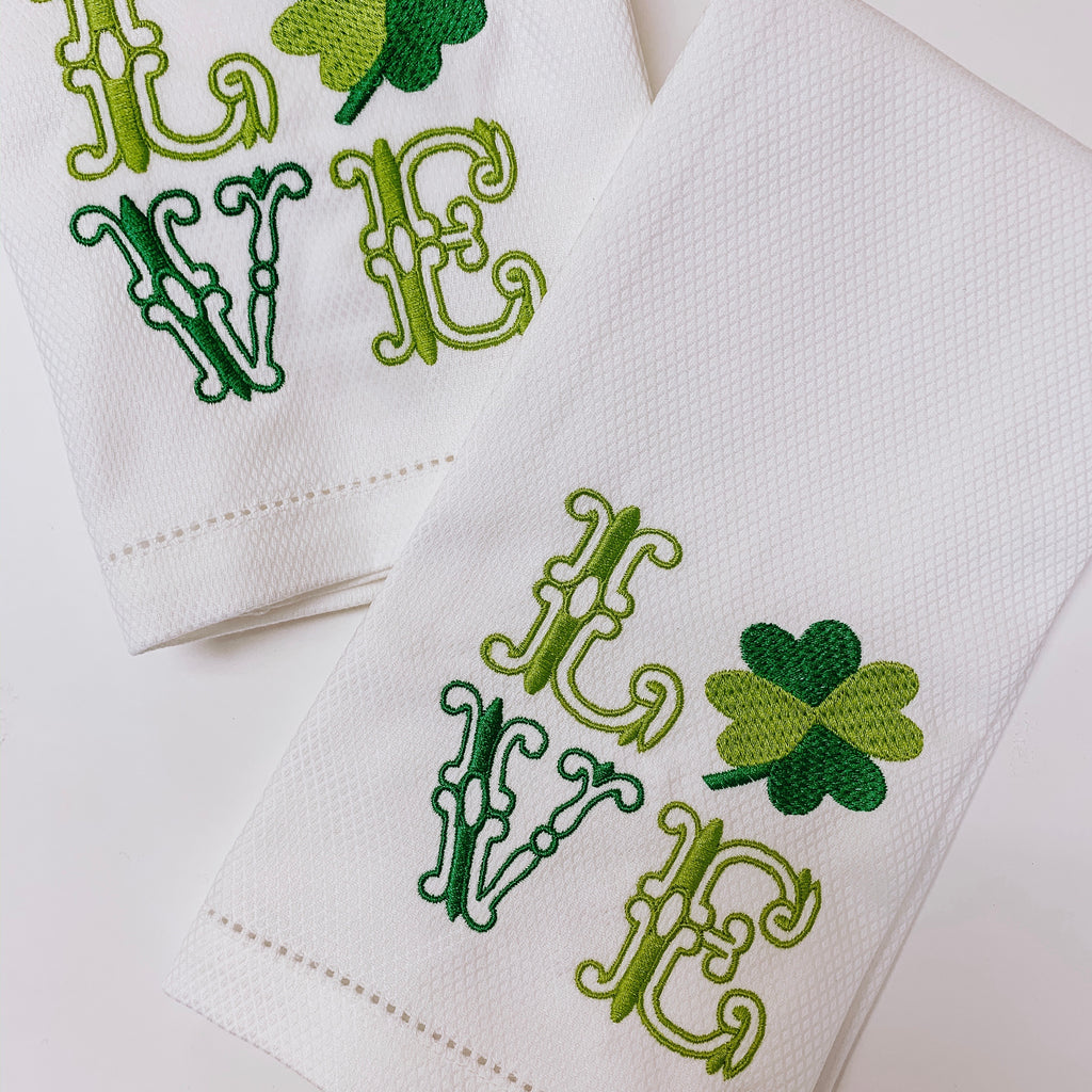 LOVE Hand // Bar Towel - St. Paddy's Day