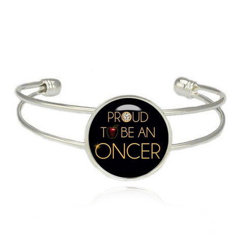 Proud to be an Oncer Cuff Bracelet Once upon a Time Bangle Fandom Jewelry - Megafandom