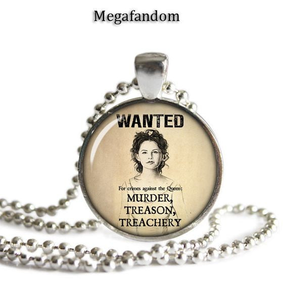 Snow White Wanted Poster Necklace Photo Glass Pendant Once Upon A
