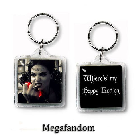 Regina Evil Queen Keychain Once Upon a Time Keyring Double Sided - Megafandom