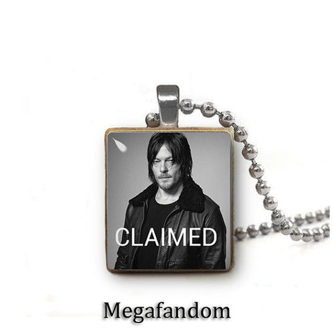 Daryl Dixon Claimed Scrabble Tile Pendant with Ball chain Walking Dead Jewelry - Megafandom