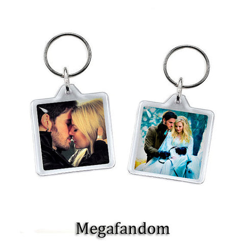 Captain Hook and Emma Swan Once Upon a Time Keyring Double Sided - Megafandom