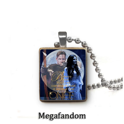 Robin and Regina Scrabble Tile Pendant with ball chain Once Upon a Time Jewelry - Megafandom