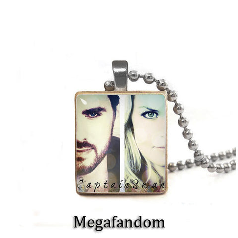 Emma Swan and Captain Hook Scrabble Tile Pendant with ball chain Once Upon a Time Jewelry - Megafandom