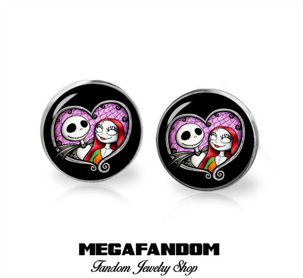 d9131d09a4e6f Jack and Sally Stud Earrings Nightmare Before Christmas Earrings Cute  GothicJewelry