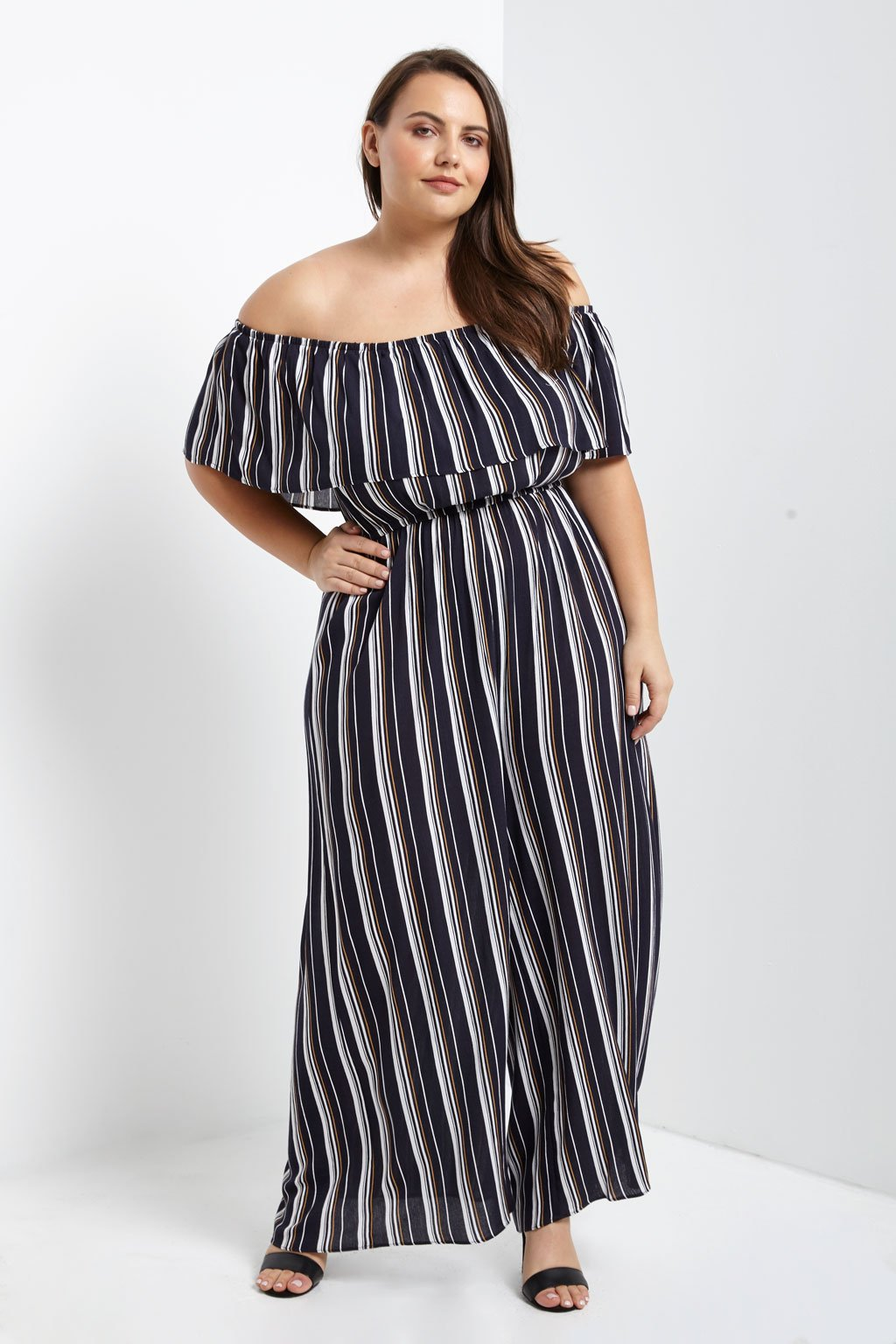 Poshsquare Off The Shoulder Jumpsuit Plus Size