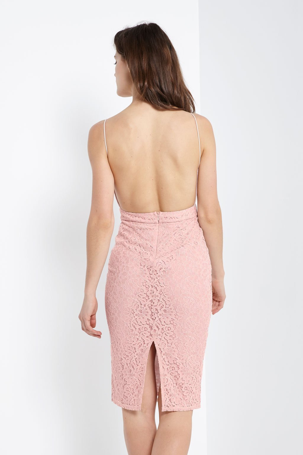 Poshsquare Dress Backless Lace Dress