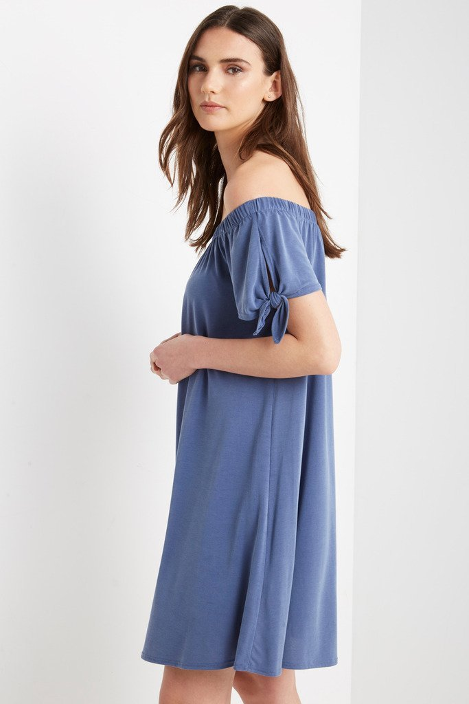 Poshsquare Dress Bare Off the Shoulder Swing Dress