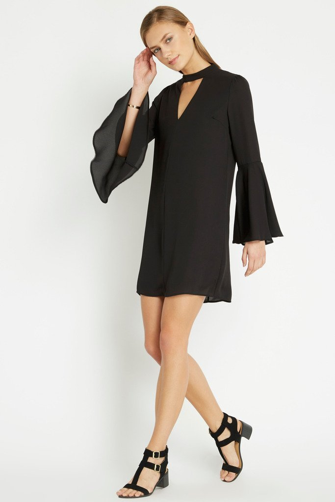 Poshsquare Dress Black Ronan Shift Dress
