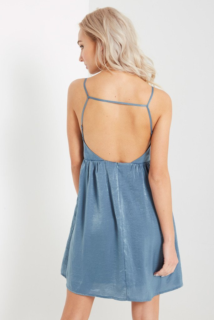 Poshsquare Dress Blue Lucy Fit and Flare Dress