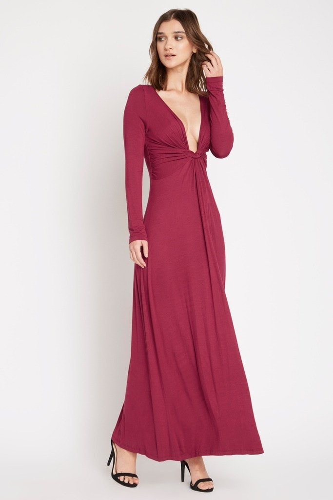 Poshsquare Dress Brett Twist Front Maxi Dress
