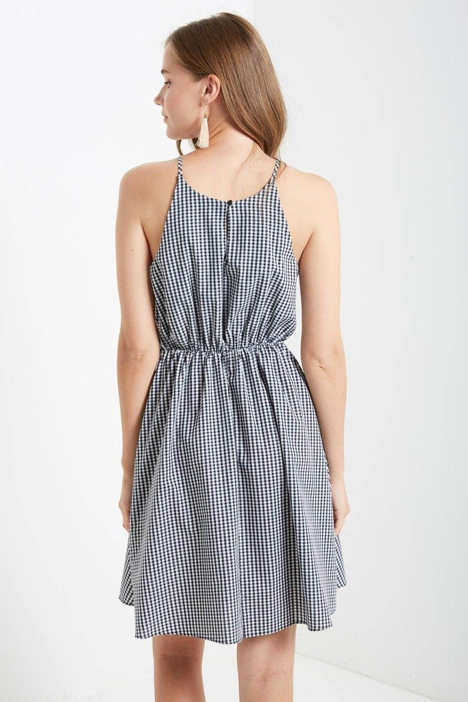 Poshsquare Dress Carmensita Gingham Fit and Flare Dress