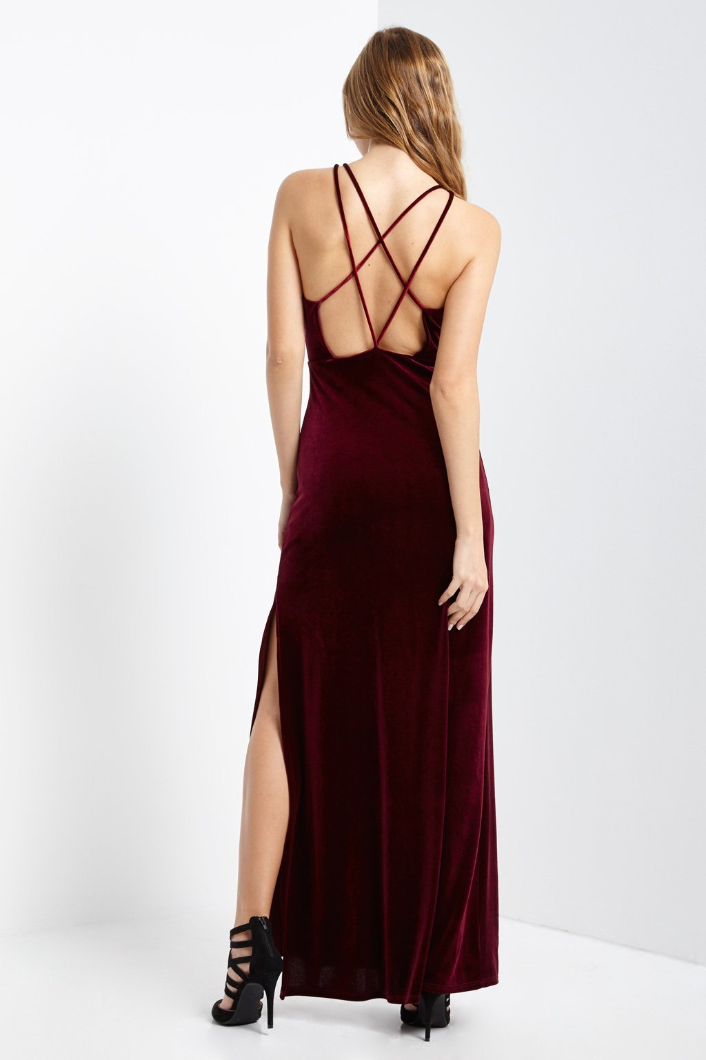 Poshsquare Dress Clint Velvet Maxi Dress