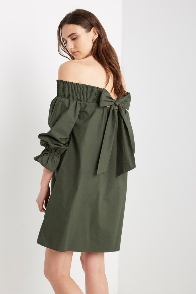 Poshsquare Dress Halston Off the Shoulder Shift Dress