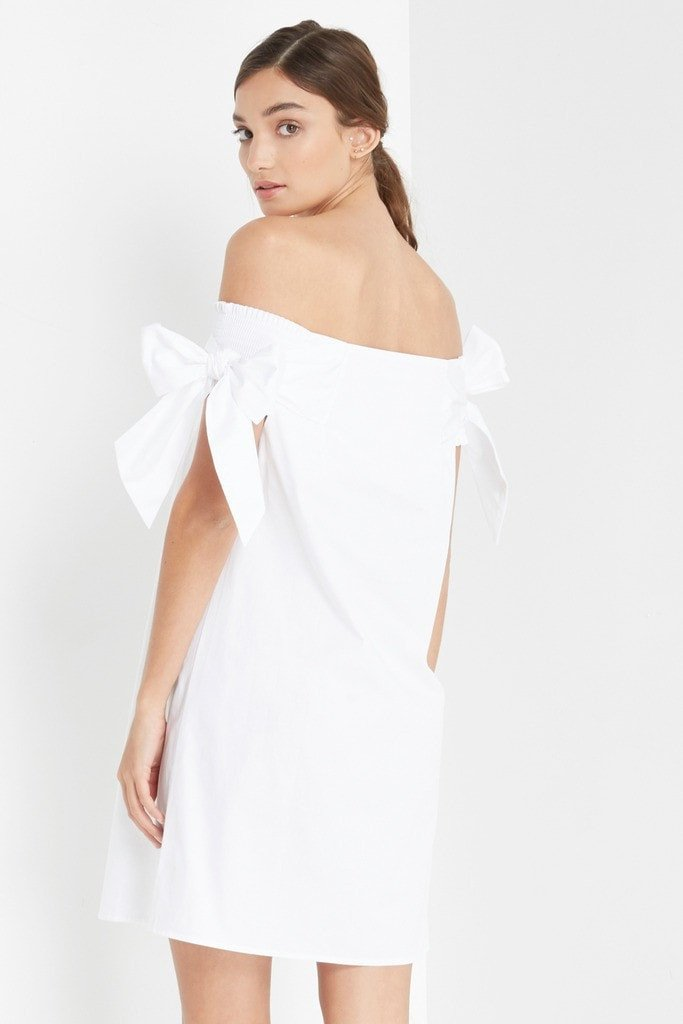 Poshsquare Dress Jamie Off the Shoulder Shift Dress