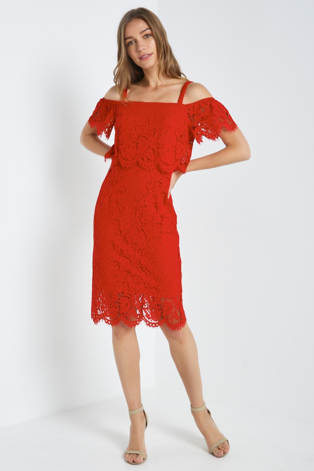 Poshsquare Dress Lace Off The Shoulder Dress