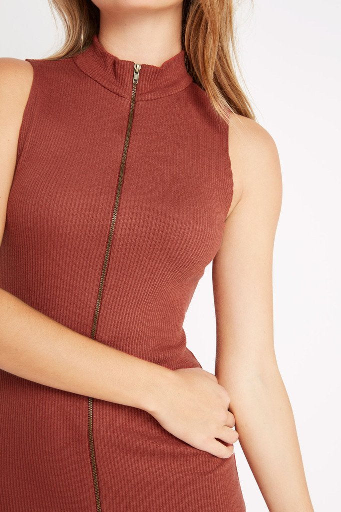 Poshsquare Dress Lean On Ribbed Sweater Dress