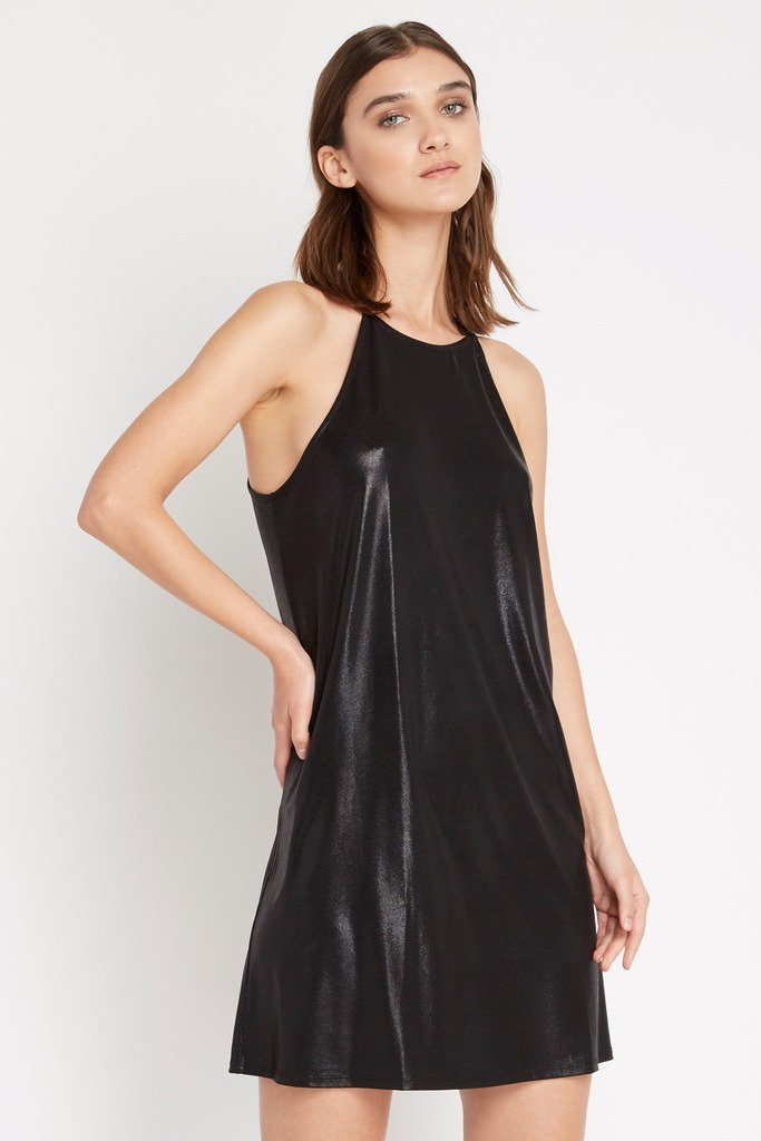 Poshsquare Dress M / Black Black Storm Metallic Shift Dress