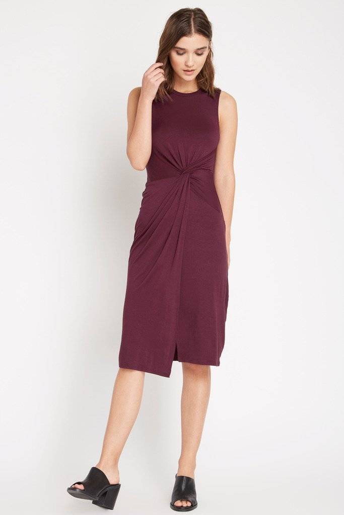 Poshsquare Dress M / Maroon Under Wraps Bodycon Midi Dress