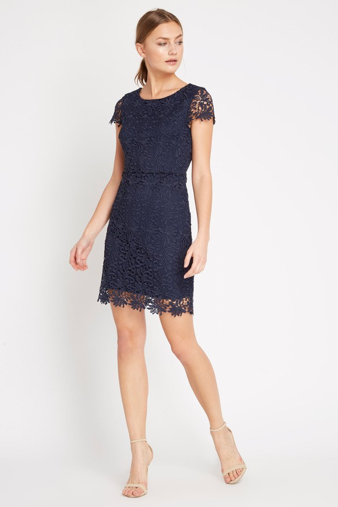 Poshsquare Dress M / Navy Primrose Bodycon Dress