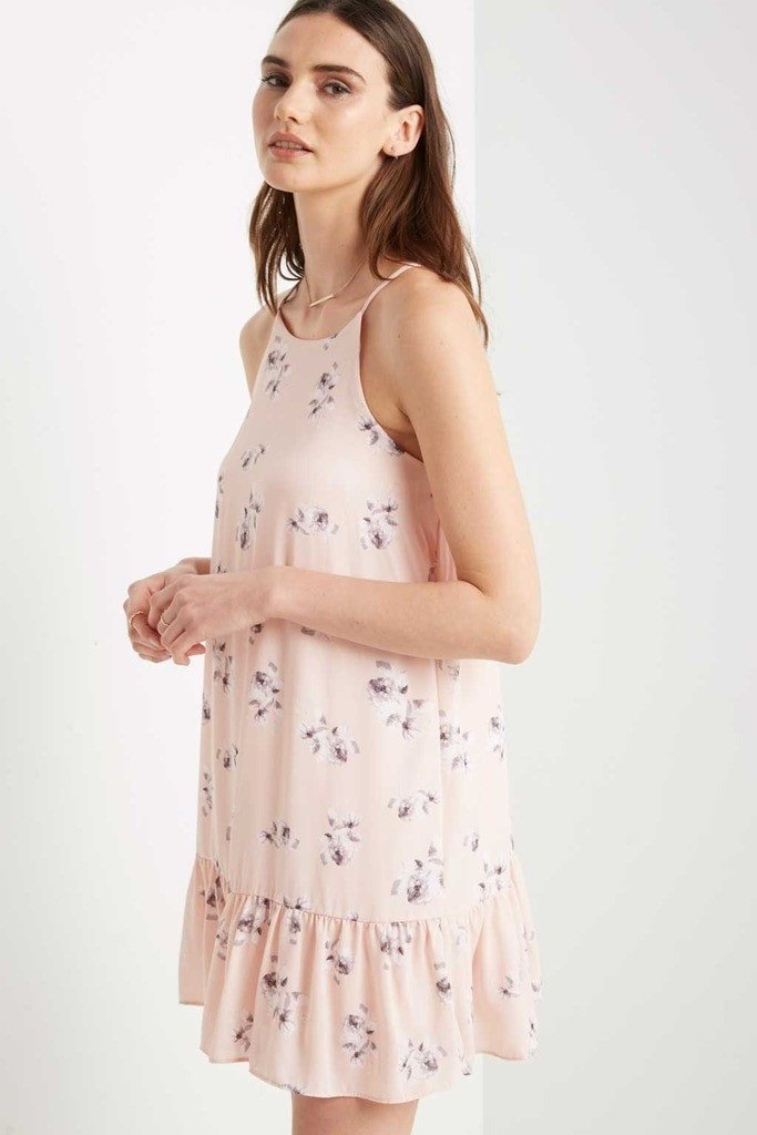 Poshsquare Dress XS / Baby Pink Pink Chelsea Floral Swing Dress