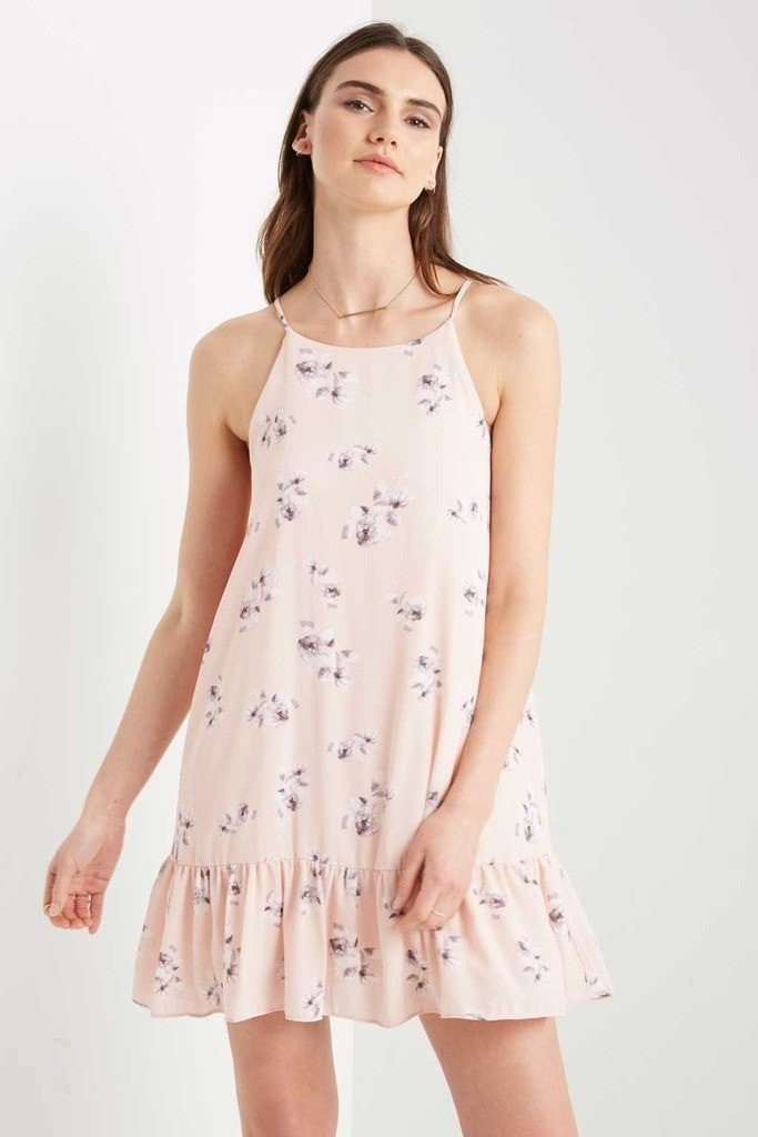 Poshsquare Dress Pink Chelsea Floral Swing Dress