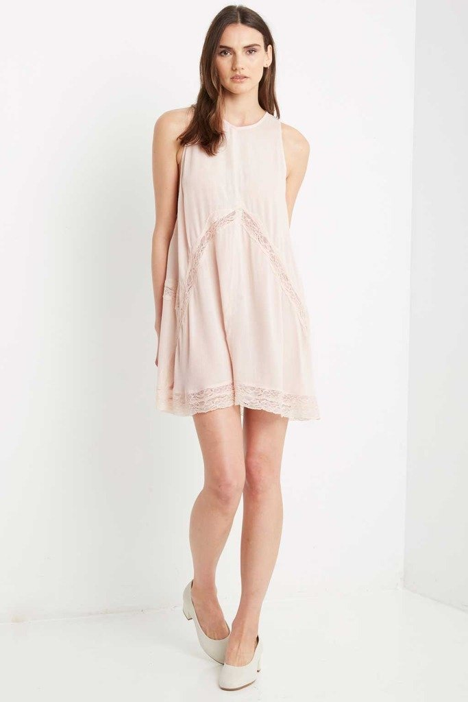 Poshsquare Dress S / Baby Pink Pink Mase Swing Dress