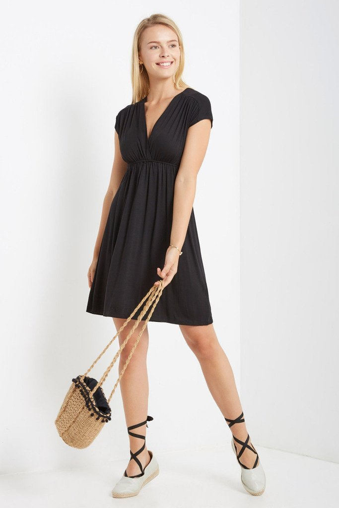 Poshsquare Dress S / Black At Ease Swing Dress