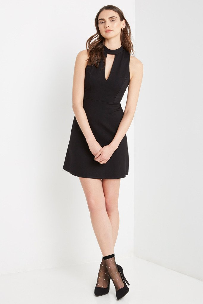 Poshsquare Dress S / Black Juliana Fit and Flare Dress