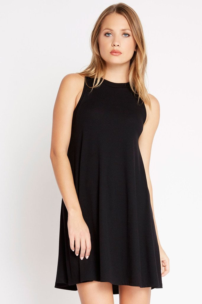 Poshsquare Dress S / Black Spice It Up Trapeze Swing Dress