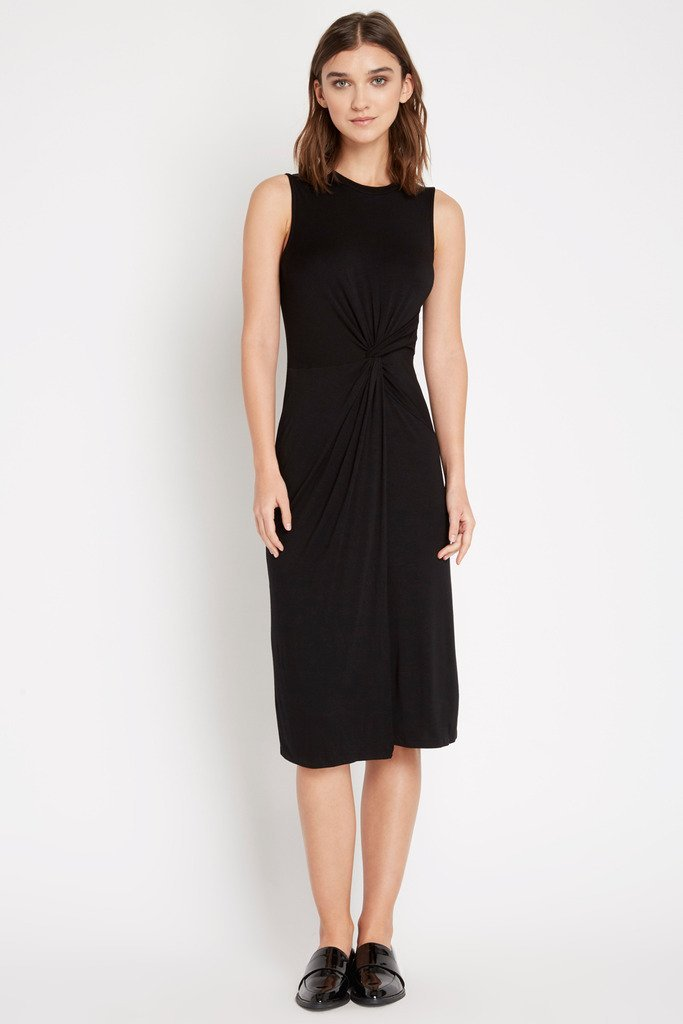 Poshsquare Dress S / Black Under Wraps Bodycon Midi Dress