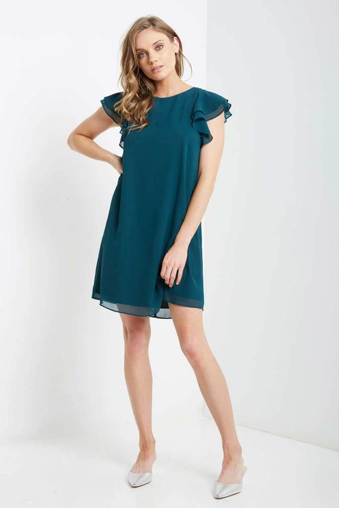 Poshsquare Dress S / Green Amabella Shift Dress