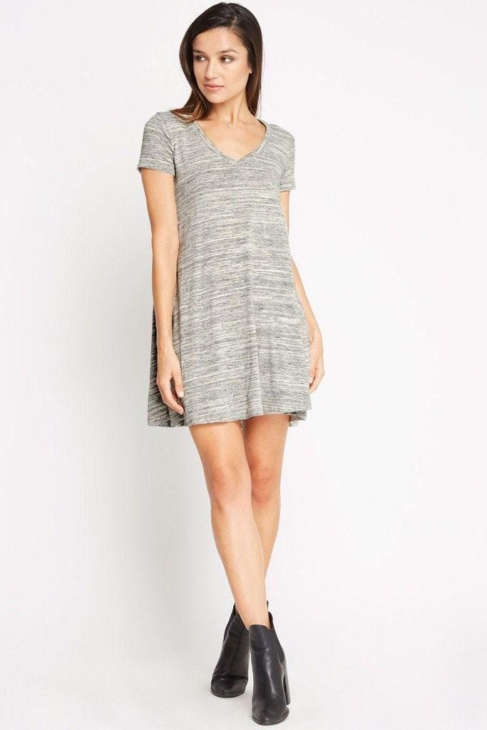 Poshsquare Dress S / Grey Come With Me T Shirt Dress