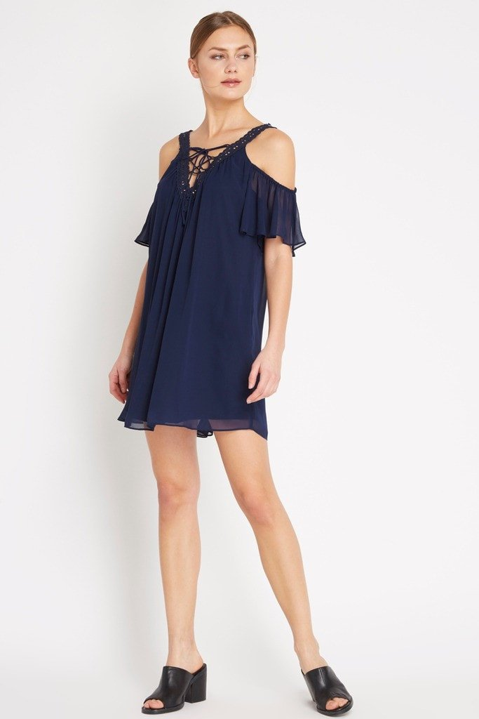 Poshsquare Dress S / Navy J'adore Swing Dress