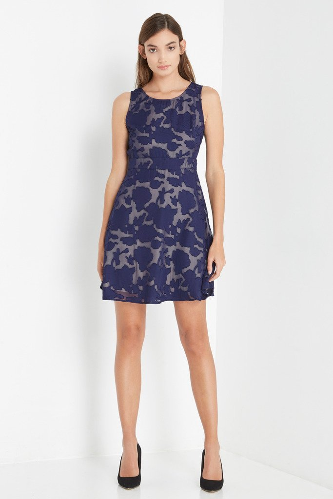 Poshsquare Dress S / Navy Navy Camilla Fit and Flare Dress