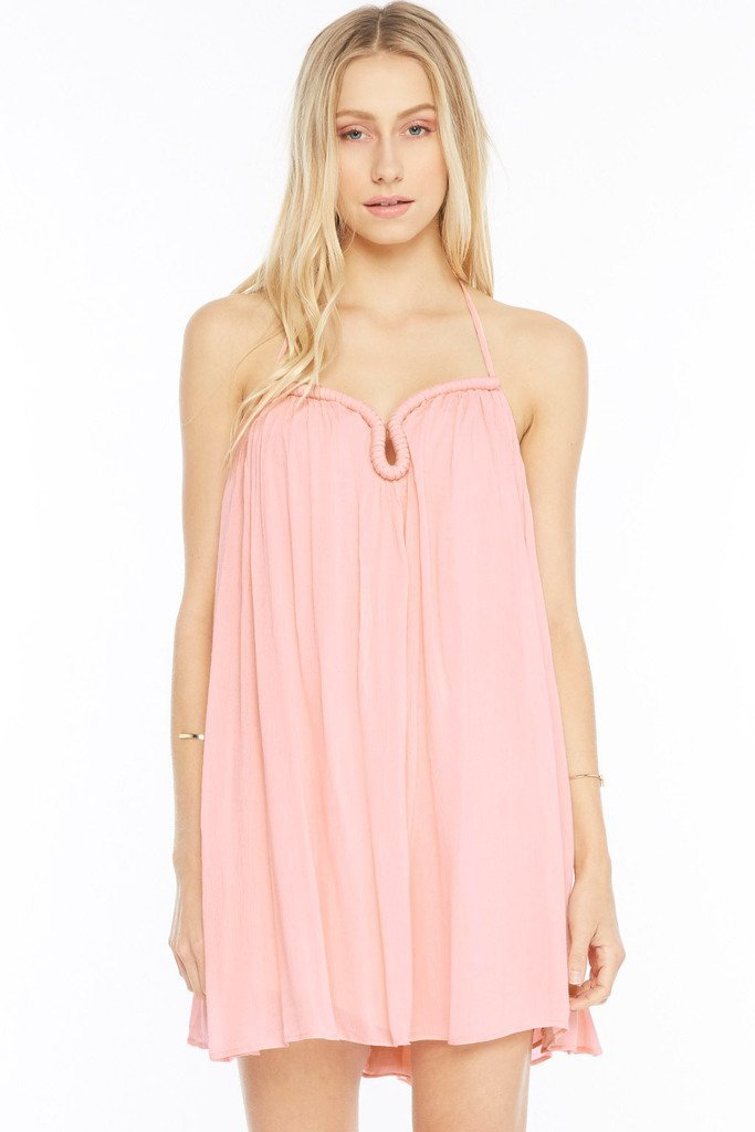 Poshsquare Dress S / Pink Boho Breeze Halter Dress